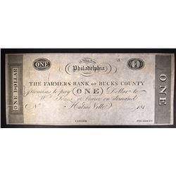 $1.00 NOTE FARMERS BANK OF BUCKS COUNTY