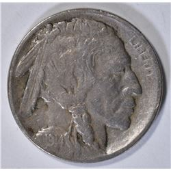 1914-D BUFFALO NICKEL VF KEY COIN