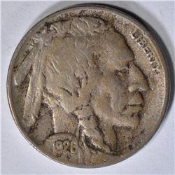 1926-S BUFFALO NICKEL VF KEY COIN