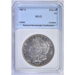 1887-S MORGAN DOLLAR NNC CH BU