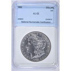 1892 MORGAN DOLLAR NNC AU BU