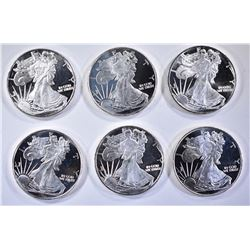 6 -  SILVER ROUNDS - 1/2 TROY OZ EACH