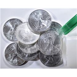 20  2006-2011 UNC AMERICAN SILVER EAGLE DOLLARS