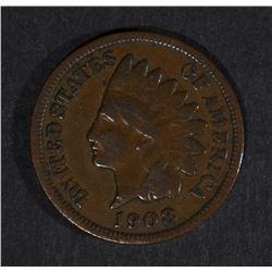 1908-S INDIAN HEAD VG/FINE - KEY COIN