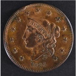 1836 LARGE CENT  CH BU