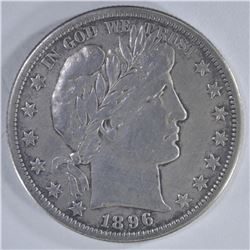 1896-S BARBER HALF DOLLAR  XF  KEY