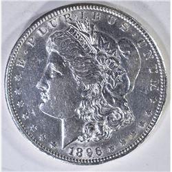 1896-S MORGAN DOLLAR  AU/UNC