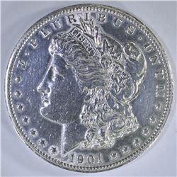 1901-S MORGAN DOLLAR  AU/UNC