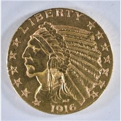 1916-S $5 GOLD INDIAN HEAD  CH BU