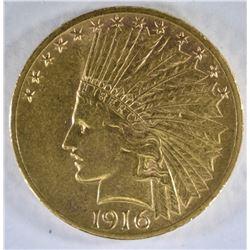 1916-S $10 GOLD INDIAN HEAD  BU