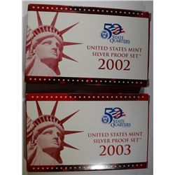 2002 & 2003 U.S. SILVER PROOF SETS
