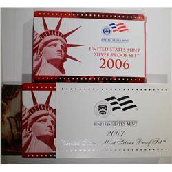 2006 & 2007 U.S. SILVER PROOF SETS