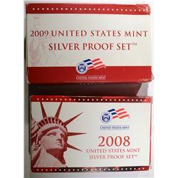 2008 & 2009 U.S. SILVER PROOF SETS
