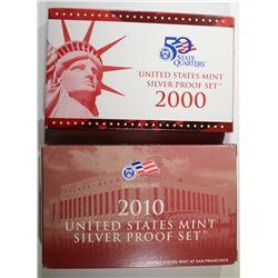 2000 & 2010 U.S. SILVER PROOF SETS