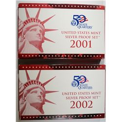 2001 & 2002 U.S. SILVER PROOF SETS