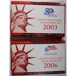 2003 & 2006 U.S. SILVER PROOF SETS