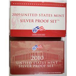 2010 & 2009 U.S. SILVER PROOF SETS