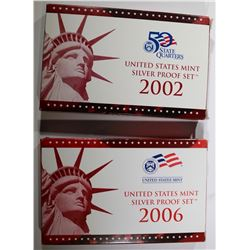 2006 & 2002 U.S. SILVER PROOF SETS