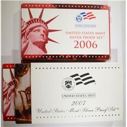 2007 & 2006 U.S. SILVER PROOF SETS