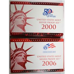 2000 & 2006 U.S. SILVER PROOF SETS