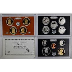 2012 U.S. SILVER PROOF SET IN ORIG BOX/COA