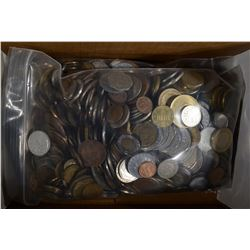 13-POUNDS OF MIXED WORLD COINS