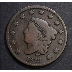 1829 LARGE CENT, G/VG BETTER DATE