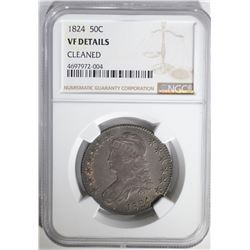 1824 CAPPED BUST HALF DOLLAR NGC VF DETAILS