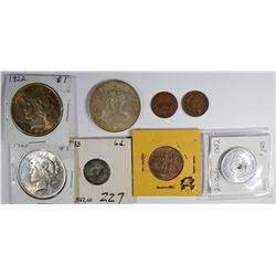 COLLECTORS LOT: 1922 & 1923 PEACE DOLLARS AU/UNC;