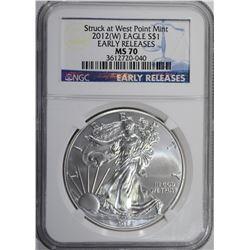 2012 (W) AMERICAN SILVER EAGLE $1