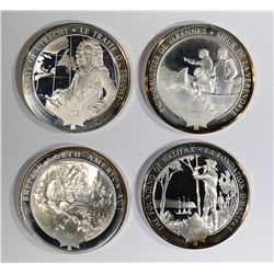 4 Different Pure Sterling Silver 1.25 oz Each