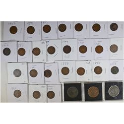CENTS:  25 MISC INDIAN HEAD;