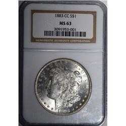 1883-CC MORGAN DOLLAR NGC MS 63