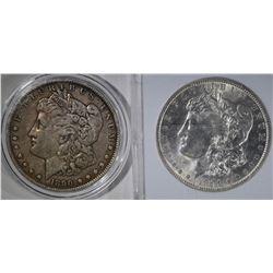 1891 BU & 1890 VF MORGAN DOLLARS