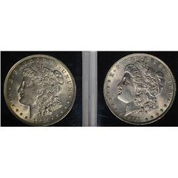 1921 BU & 1889 CH BU MORGAN DOLLARS