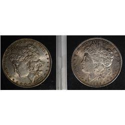 1878-S AU/UNC & 1885-O BU MORGAN DOLLARS