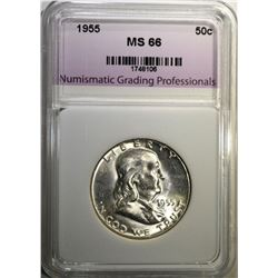 1955 FRANKLIN HALF DOLLAR NGP