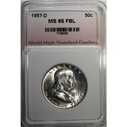 1957-D FRANKLIN HALF DOLLAR WHSG