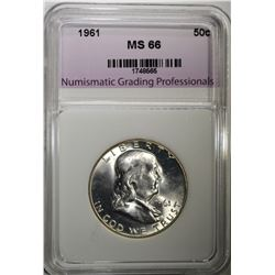 1961 FRANKLIN HALF DOLLAR NGP