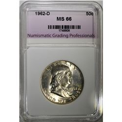 1962-D FRANKLIN HALF DOLLAR NGP