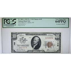 1929 TY.1 $10 NATIONAL BANK NOTE