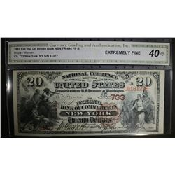 1882 $20 2nd CH BROWN BACK NATIONAL CURRENCY