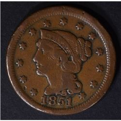 1851/81 LARGE CENT FINE RARE GENUINE!