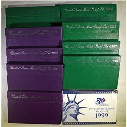 U.S. CLAD PROOF SETS OF THE 1990'S