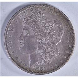 1881-O AU MORGAN DOLLAR,