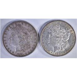 1881 & 82 AU/BU MORGAN DOLLARS
