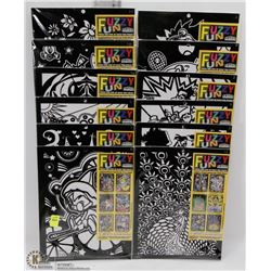 BUNDLE OF 12 FUZZY FUN COLOURING SETS