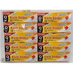 LOT OF 10 BOXES OF KWIK SLIDER FREEZER BAGS
