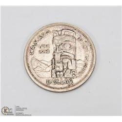 1958 BRITISH COLUMBIA $1 DOLLAR