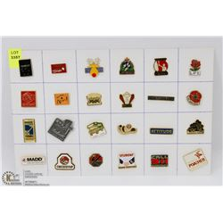 SHEET OF ASSORTED CAMPAIGN/ PROGRAM PINS